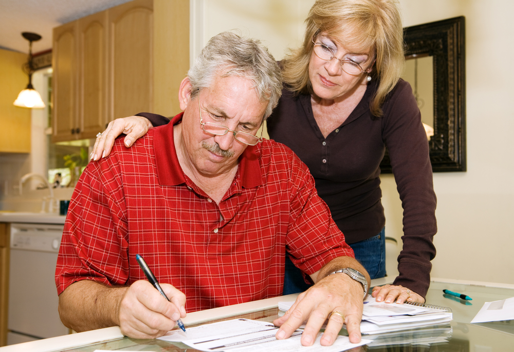 Senior citizen behind on mortgage payments